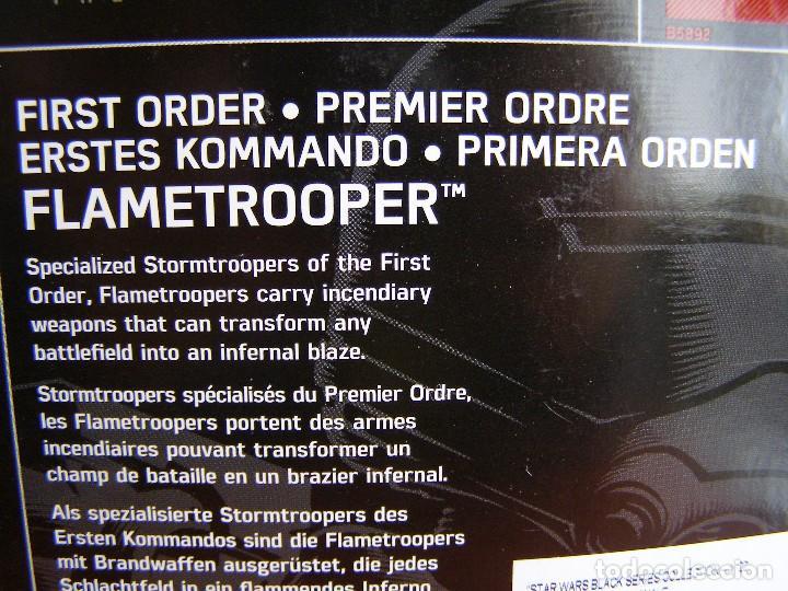 Figuras y Muñecos Star Wars: FIGURA STAR WARS FIRST ORDER FLAMETROOPER, DE HASBRO, 15 CM DE ALTURA, EN CAJA - Foto 3 - 112988263