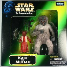 Figuras y Muñecos Star Wars: STAR WARS STARWARS POWER OF THE FORCE KENNER COLLECTION KABE AND MUFTAK 1998 NEW. Lote 113082755
