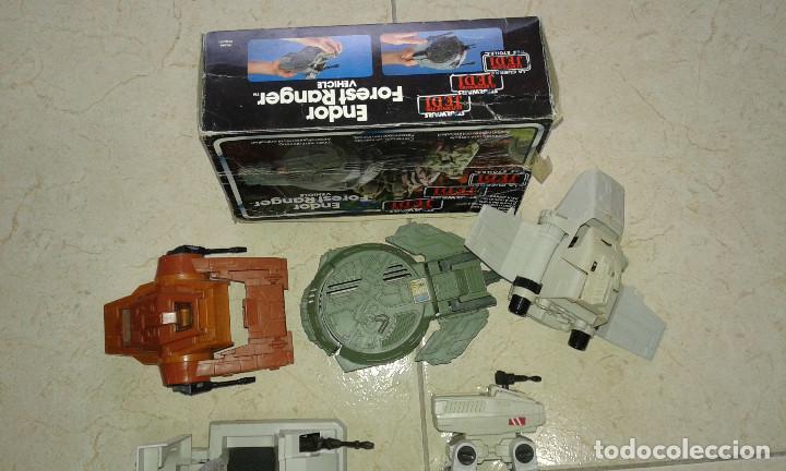 Figuras y Muñecos Star Wars: STAR WARS VINTAGE JOB LOT LOTE CAJA BOX ENDOR FOREST RANGER MINI RIGS MTV-7 ISP-6 MLC-3 AST-5 KENNE - Foto 2 - 113335047