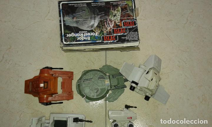 Figuras y Muñecos Star Wars: STAR WARS VINTAGE JOB LOT LOTE CAJA BOX ENDOR FOREST RANGER MINI RIGS MTV-7 ISP-6 MLC-3 AST-5 KENNE - Foto 3 - 113335047