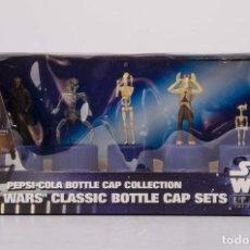 Figuras y Muñecos Star Wars: PEPSI STAR WARS CLASSIC BOTTLE CAP SET SET 08 (NUEVO IMPORTADO DE JAPÓN (DIFÍCIL). Lote 113396799