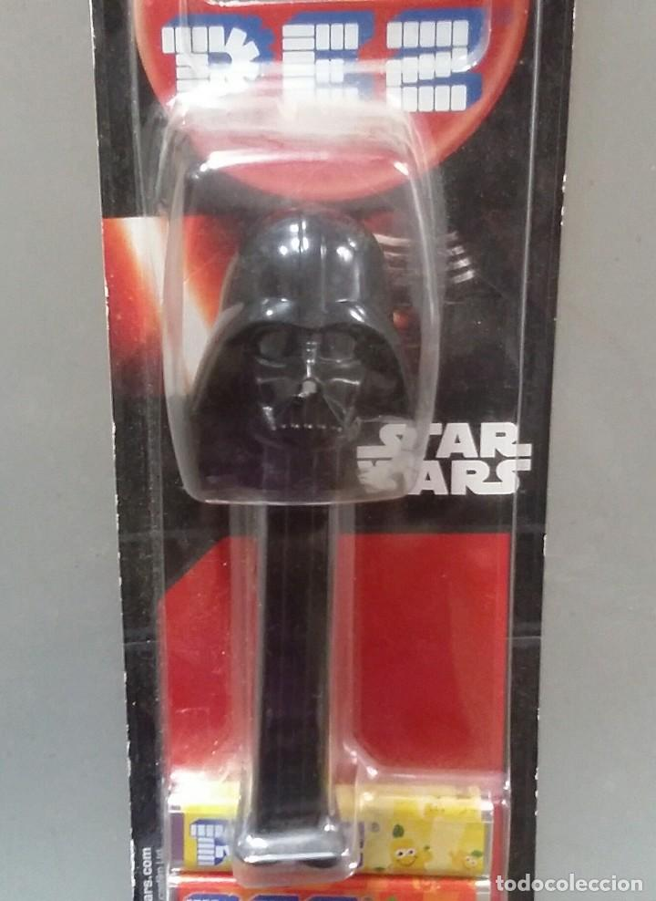 Figuras y Muñecos Star Wars: DISPENSADOR PEZ DE STAR WARS DE DARTH VADER. EN SU BLISTER SIN ABRIR - Foto 2 - 114239211