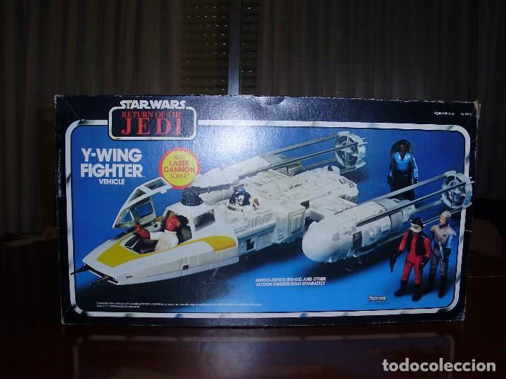 STAR WARS Y - WING VINTAGE 1983. RETORNO DEL JEDI. Y WING 3-2-1.... ¡¡¡¡ BOOOM !! (Juguetes - Figuras de Acción - Star Wars)
