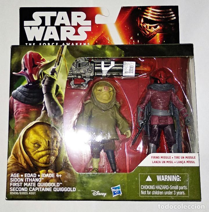 STAR WARS # SIDON ITHANO & FIRST MATE QUIGGOLD # THE FORCE AWAKENS, NUEVO EN CAJA, DE HASBRO. (Juguetes - Figuras de Acción - Star Wars)