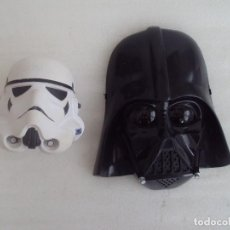 Figuras y Muñecos Star Wars: LOTE STAR WARS, MASCARA DARTH VADER Y CABEZA DE SOLDADO IMPERIAL.. Lote 120806363