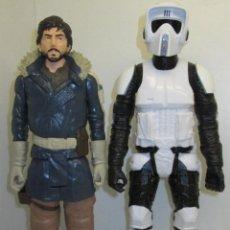 Figuras y Muñecos Star Wars: LOTE 2 FIGURAS STAR WARS TITAN SERIES, HASBRO, 12 PULGADAS, CAPITAN CASSIAN ANDOR + BIKER SCOUT. Lote 245717765