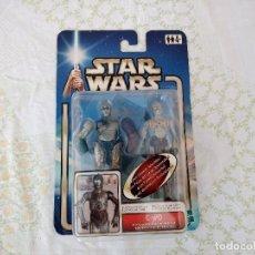 Figuras y Muñecos Star Wars: STAR WARS ATAQUE DE LOS CLONES C-3PO PROTOCOL DROID FIGURA DE ACCIÓN HASBRO 2002,NUEVO EN BLISTER. Lote 221723566