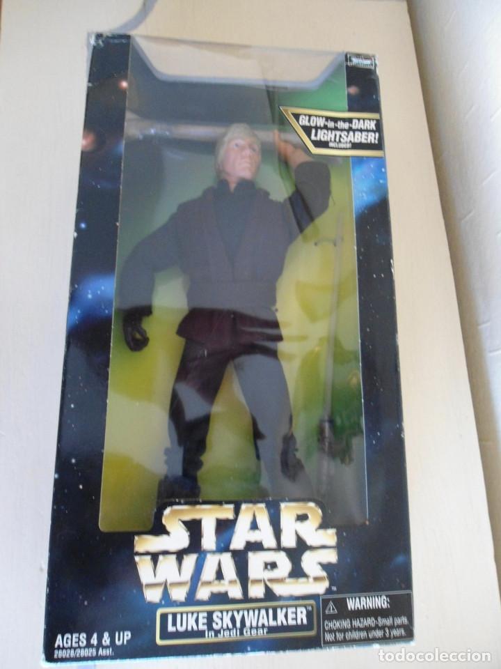 """12/"""" Luke Skywalker in Jedi Gear Action Figure New 1998 Star Wars Hasbro"""