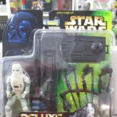Figuras y Muñecos Star Wars: SNOWTROOPER DELUXE CON BLASTER DE REPETICION STAR WARS POWER OF THE FORCE NUEVO SIN ABRIR. Lote 122454631