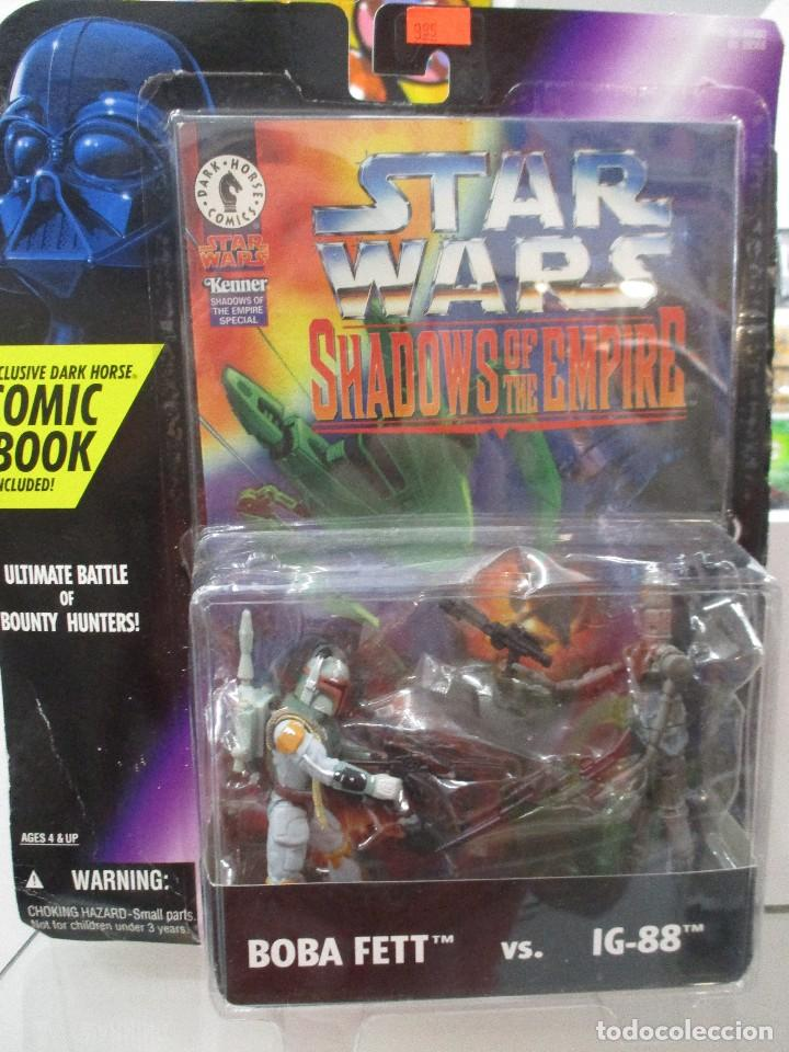 SHADOWS OF THE EMPIRE BOBA FETT VERSUS IG-88 INCLUYE COMIC STAR WARS NUEVO SIN ABRIR (Juguetes - Figuras de Acción - Star Wars)