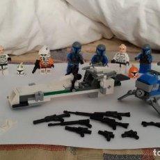 Figuras y Muñecos Star Wars: 8 FIGURAS SOLDADO LEGO, CON CASCOS, DOS NAVES, ARMAMENTO, ETC. Lote 124932427