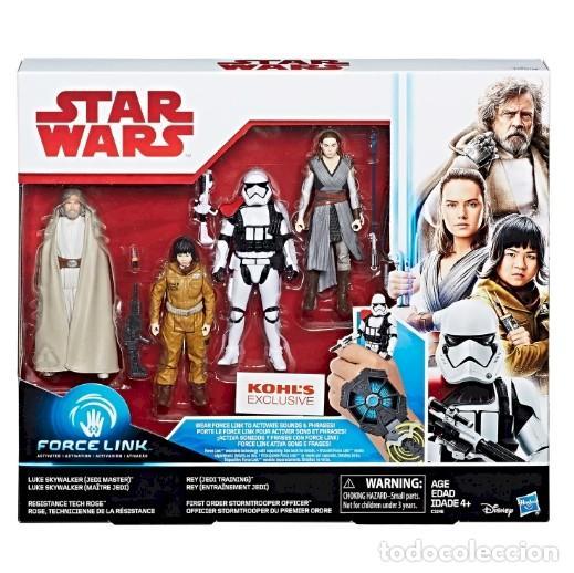 CI 5 STAR WARS HASBRO - PACK 4 FIGURAS: LUKE SKYWALKER RESISTANCE TECH ROSE REY (JEDI TRAINING),... (Juguetes - Figuras de Acción - Star Wars)