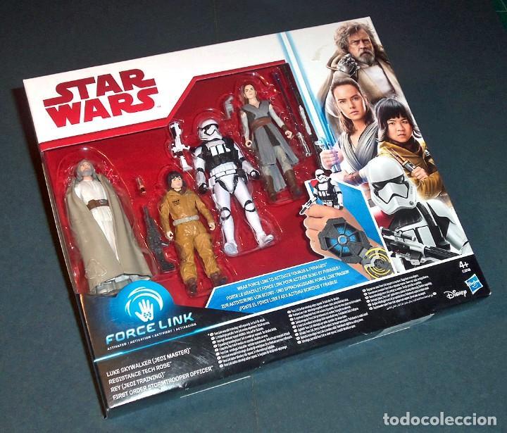 Set Pack 4 Figuras Star Wars La Guerra De Las Galaxias Force Link By Hasbro Envío Gratis