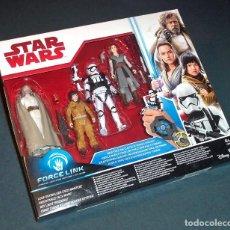 Figuras y Muñecos Star Wars: SET / PACK 4 FIGURAS STAR WARS (LA GUERRA DE LAS GALAXIAS) - FORCE LINK BY HASBRO. Lote 125278591