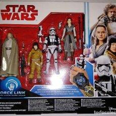 Figuras y Muñecos Star Wars: PACK STAR WARS, SET DE 4 FIGURAS FORCE LINK # LUKE SKYWALKER - ROSE - REY - STORMTROOPER # DE HASBRO. Lote 177834845