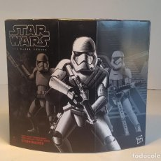 Figuras y Muñecos Star Wars: STAR WARS HASBRO BLACK SERIES DELUXE SET FIRST ORDER STORMTROOPER WITH GEAR, NUEVO SIN ABRIR, RARO. Lote 126722575