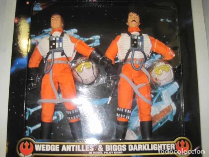 Figuras y Muñecos Star Wars: STAR WARS - WEDGE ANTILLES & BIGGS DARKLIGHTER PILOTOS REBELDES X-WING -30 CM- KENNER - 1998 EN CAJA - Foto 1 - 126779947