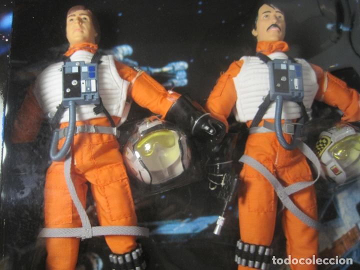 Figuras y Muñecos Star Wars: STAR WARS - WEDGE ANTILLES & BIGGS DARKLIGHTER PILOTOS REBELDES X-WING -30 CM- KENNER - 1998 EN CAJA - Foto 11 - 126779947