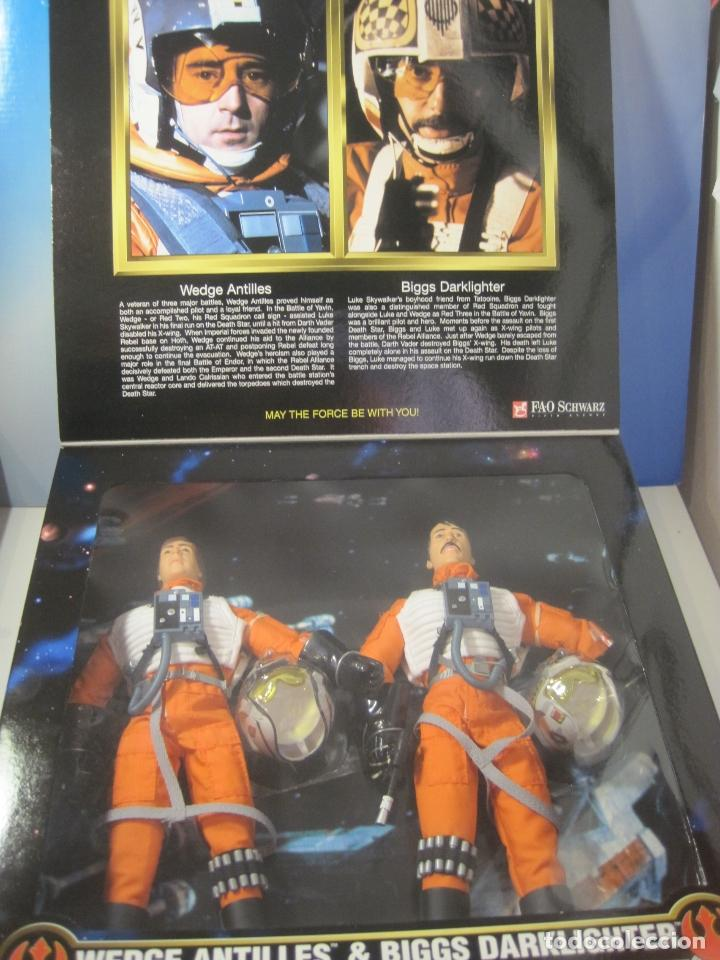 Figuras y Muñecos Star Wars: STAR WARS - WEDGE ANTILLES & BIGGS DARKLIGHTER PILOTOS REBELDES X-WING -30 CM- KENNER - 1998 EN CAJA - Foto 14 - 126779947
