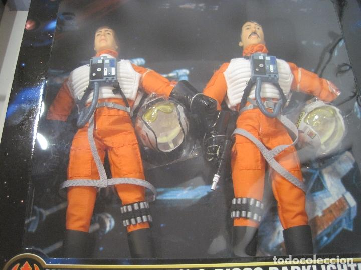Figuras y Muñecos Star Wars: STAR WARS - WEDGE ANTILLES & BIGGS DARKLIGHTER PILOTOS REBELDES X-WING -30 CM- KENNER - 1998 EN CAJA - Foto 15 - 126779947