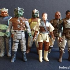 Figuras y Muñecos Star Wars: LOTE STAR WARS VINTAGE - LEIA BOUSHH - KLAATU - LANDO SKIFF - WEEQUAY - NIKTO - KLAATU SKIFF - ROTJ. Lote 126921795