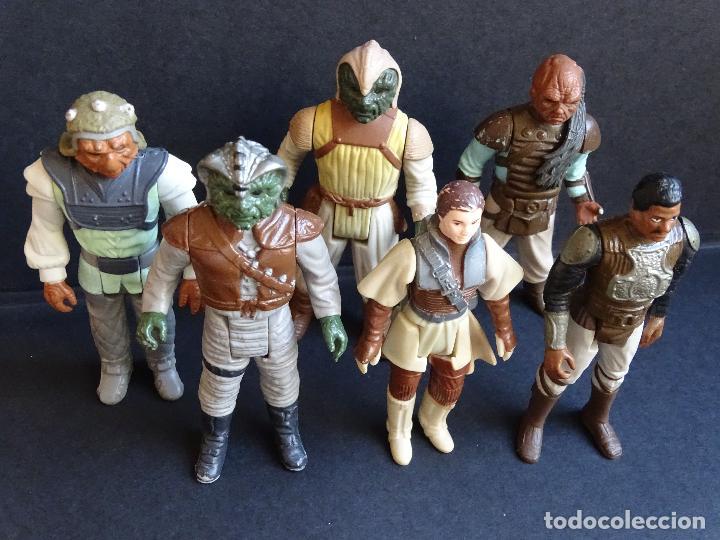 Figuras y Muñecos Star Wars: LOTE STAR WARS VINTAGE - LEIA BOUSHH - KLAATU - LANDO SKIFF - WEEQUAY - NIKTO - KLAATU SKIFF - ROTJ - Foto 2 - 126921795