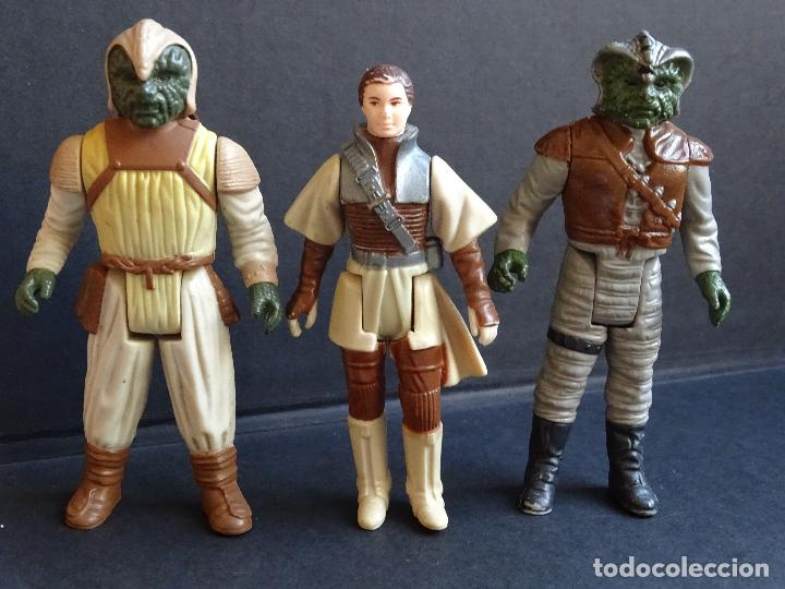 Figuras y Muñecos Star Wars: LOTE STAR WARS VINTAGE - LEIA BOUSHH - KLAATU - LANDO SKIFF - WEEQUAY - NIKTO - KLAATU SKIFF - ROTJ - Foto 4 - 126921795