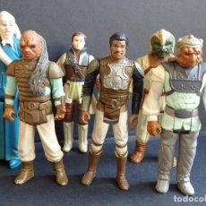 Figuras y Muñecos Star Wars: LOTE STAR WARS VINTAGE - LEIA BOUSHH - BIB FORTUNA - LANDO SKIFF - WEEQUAY - NIKTO - KLAATU SKIFF. Lote 126921883