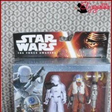 Figuras y Muñecos Star Wars: CI2 2 STAR WARS THE FORCE AWAKENS - SNOWTROOPER OFFICER + SNAP WEXLEY X-WING PILOT. Lote 127340107