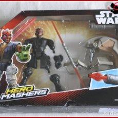 Figuras y Muñecos Star Wars: CI2 11 - STAR WARS HASBRO DISNEY HERO MASHERS - SITH SPEEDER DARTH MAUL. Lote 128018939