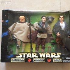 Figuras y Muñecos Star Wars: TRIPLE PACK DE STAR WARS - LUKE SKYWALKER, PRINCESA LEIA Y HAN SOLO - KENNER - RARA. Lote 128545823