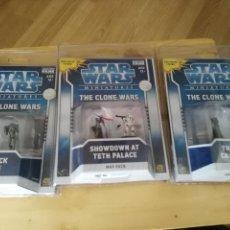 Figuras y Muñecos Star Wars: LOTE 3 SET BILSTER - STAR WARS - THE CLONE WARS - MINIATURES - MAP PACK - 2009. Lote 128787711