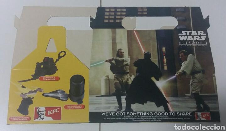 Figuras y Muñecos Star Wars: Star Wars Episodio 1 KFC juguetes + caja promocion - Foto 3 - 130281003