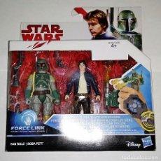 Figuren von Star Wars - PACK STAR WARS, SET DE 2 FIGURAS FORCE LINK # HAN SOLO Y BOBA FETT # DE HASBRO. - 130805892