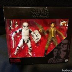 Figuras y Muñecos Star Wars: STAR WARS EPISODIO VII.POE DAMERON & STORMTROOPER.THE BLACK SERIES.PACK 2 FIGURAS 15CM. Lote 131360981