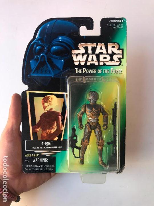 4-LOM - FIGURA STAR WARS THE POWER OF THE FORCE - NUEVA (Juguetes - Figuras de Acción - Star Wars)