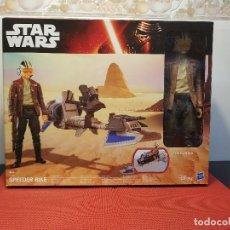 Figuras y Muñecos Star Wars: SPEEDER BIKE + POE DAMERON. Lote 131681994