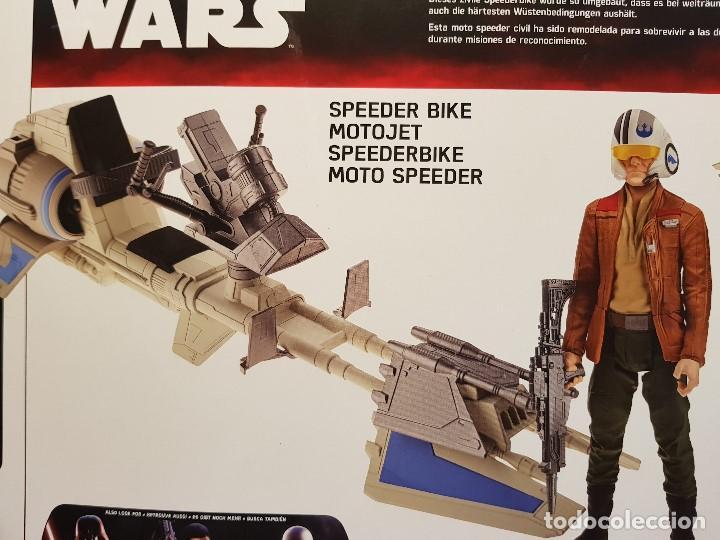 Figuras y Muñecos Star Wars: SPEEDER BIKE + POE DAMERON - Foto 6 - 131681994