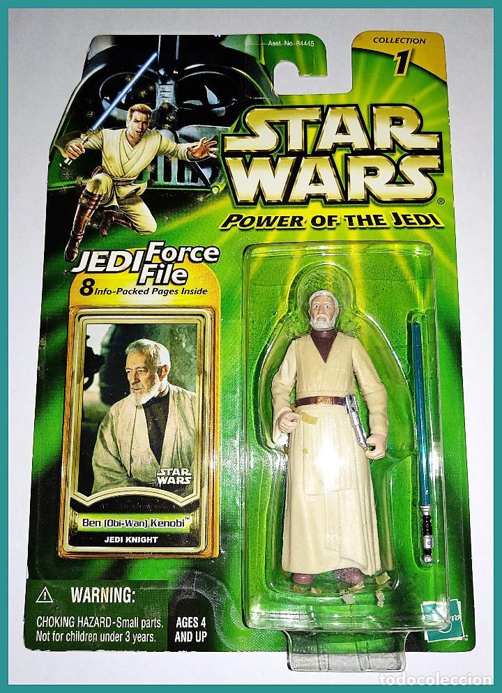 STAR WARS # BEN ( OBI-WAN ) KENOBI # POWER OF THE JEDI - NUEVO EN SU BLISTER ORIGINAL DE HASBRO. (Juguetes - Figuras de Acción - Star Wars)