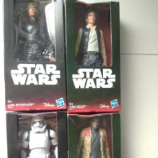 Figuren von Star Wars - Lote 4 figuras Star Wars Luke Skywalker Han Solo finn Stormtrooper - 132663790