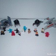 Figuras y Muñecos Star Wars: LOTE DE PEQUEÑAS FIGURAS Y NAVES DE LA STAR WARS. Lote 133572534