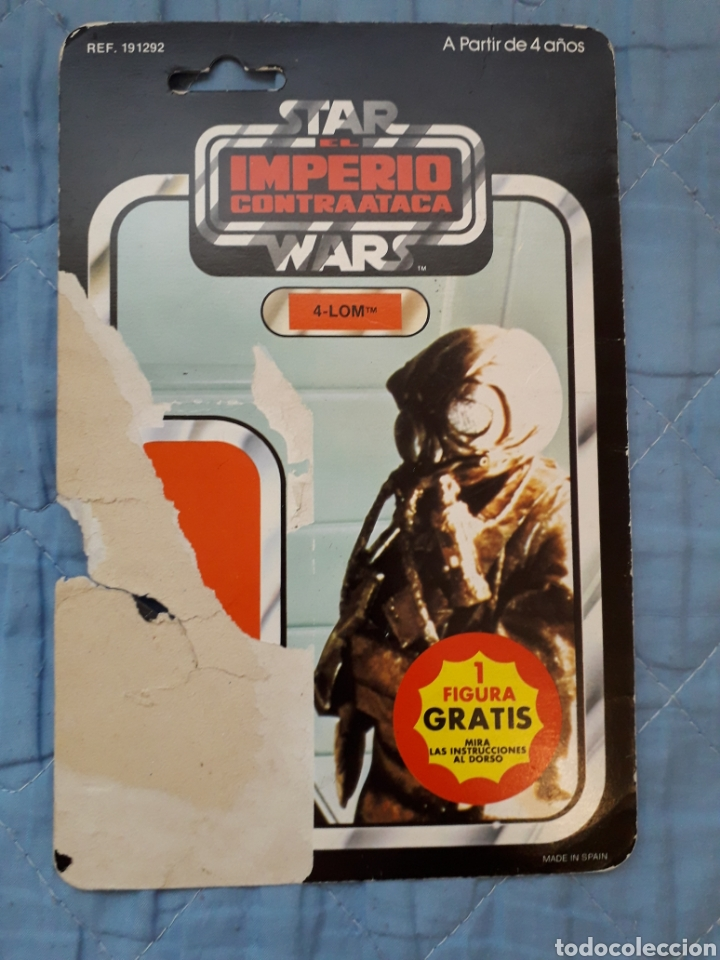 4-LOM PBP CARDBACK 45 BACK (Juguetes - Figuras de Acción - Star Wars)