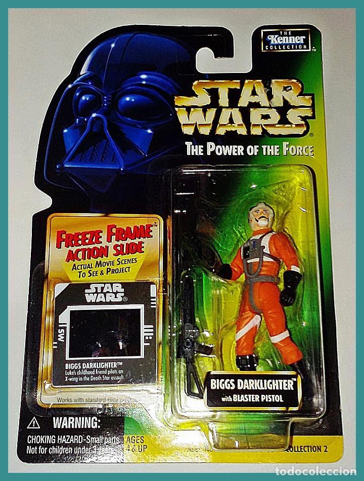 STAR WARS # BIGGS DARKLIGHTER # THE POWER OF THE FORCE - NUEVO EN SU BLISTER ORIGINAL DE KENNER. (Juguetes - Figuras de Acción - Star Wars)