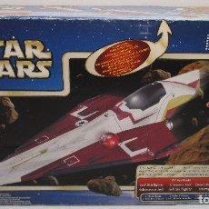 Figuras y Muñecos Star Wars: STAR WARS - EL ATAQUE DE LOS CLONES - OBI-WAN KENOBI JEDI STARFIGHTER - HASBRO 2002. Lote 135693417