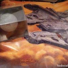 Figuras y Muñecos Star Wars: STAR WARS NAVE VEHICULOS ESTRELLA MUERTE Y POSTER HALCON MILENARIO PLANETA AGOSTINI FIGURA PLOMO. . Lote 136225882