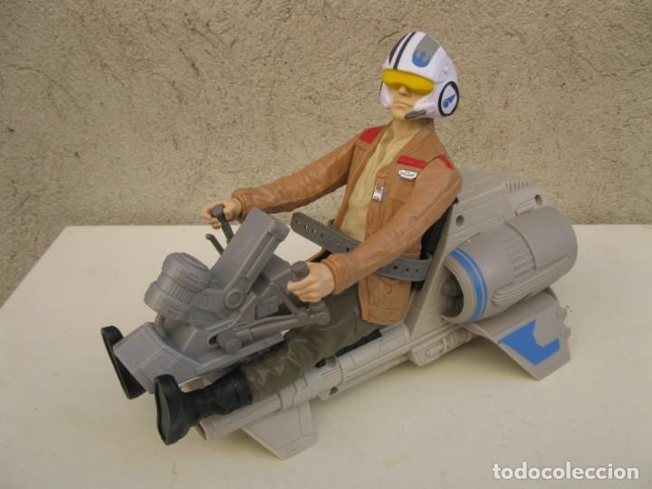 POE DAMERON CON SPEEDER BIKE - MOTO JET - STAR WARS - HASBRO - LFL. (Juguetes - Figuras de Acción - Star Wars)