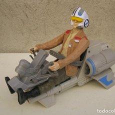 Figuras y Muñecos Star Wars: POE DAMERON CON SPEEDER BIKE - MOTO JET - STAR WARS - HASBRO - LFL.. Lote 137425902
