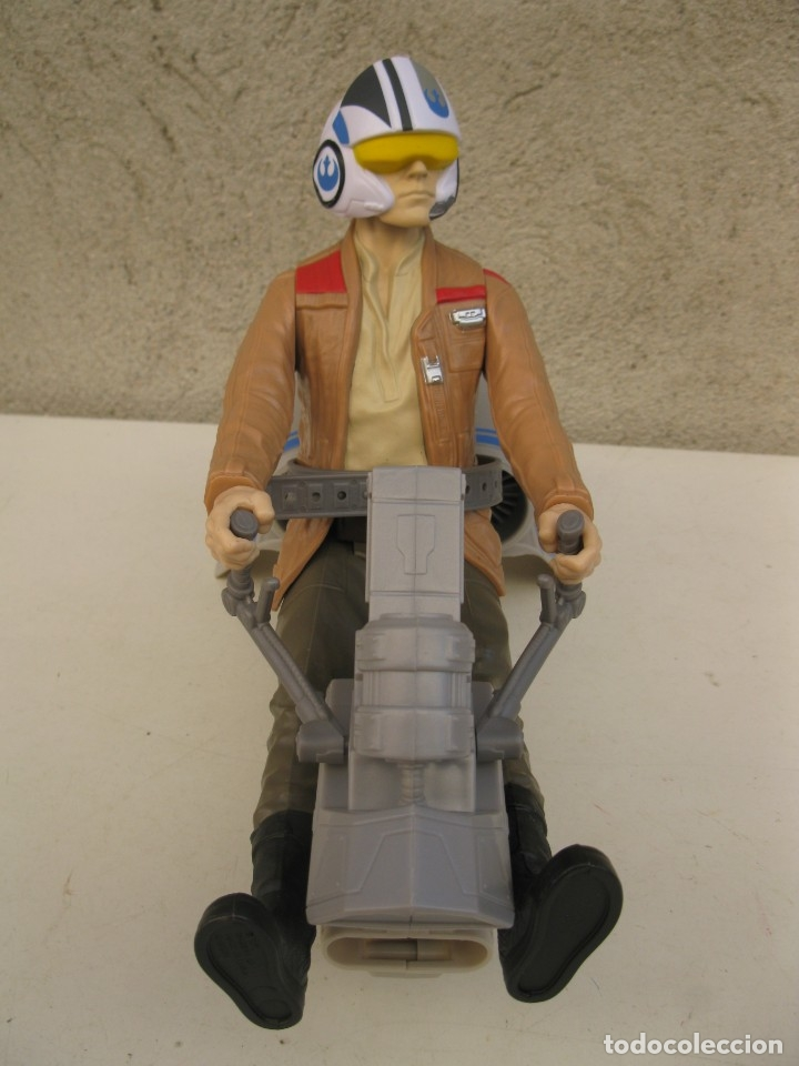 Figuras y Muñecos Star Wars: POE DAMERON CON SPEEDER BIKE - MOTO JET - STAR WARS - HASBRO - LFL. - Foto 2 - 137425902