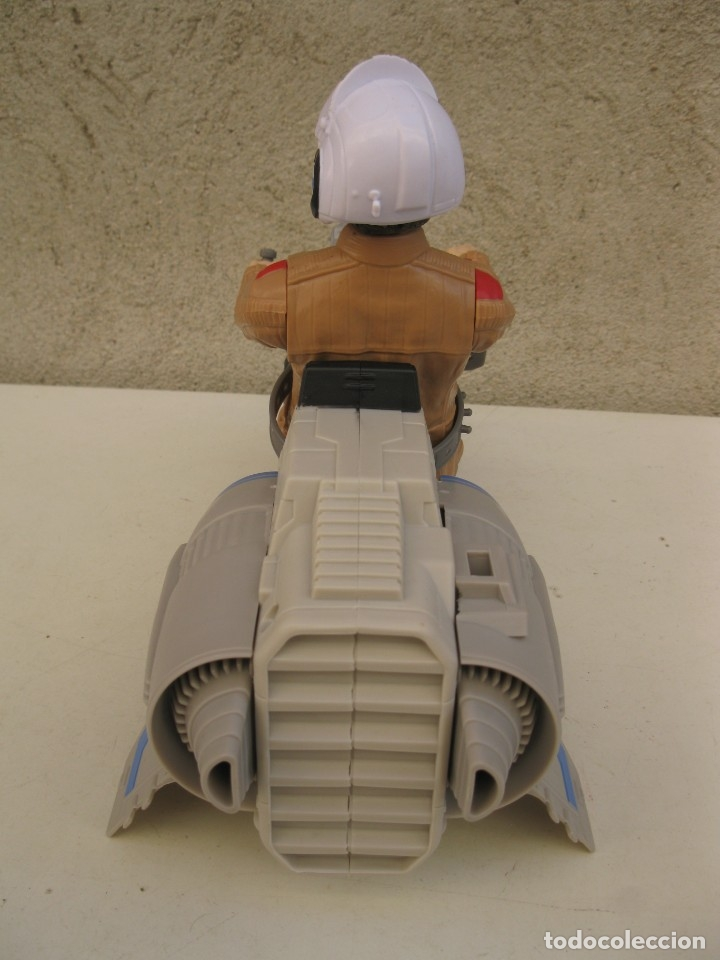 Figuras y Muñecos Star Wars: POE DAMERON CON SPEEDER BIKE - MOTO JET - STAR WARS - HASBRO - LFL. - Foto 4 - 137425902