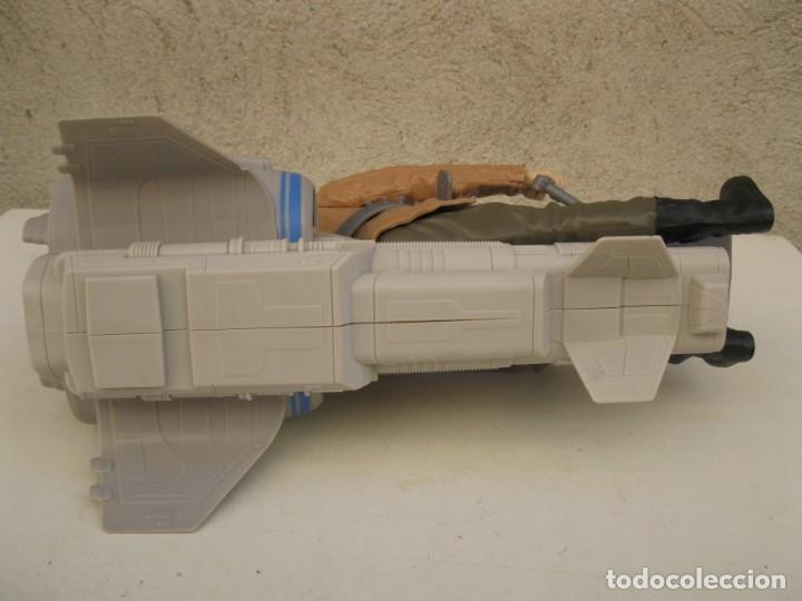 Figuras y Muñecos Star Wars: POE DAMERON CON SPEEDER BIKE - MOTO JET - STAR WARS - HASBRO - LFL. - Foto 5 - 137425902